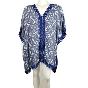 Liz Lange Caftan Tunic Top Swim Coverup 2X 3X NWT
